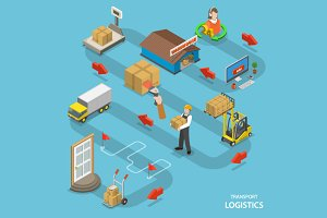 Transport logistics infographics