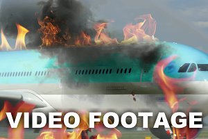 Engine fighting the airplane fire