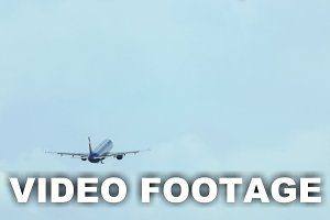 Plane Gaining Height and Flying Away