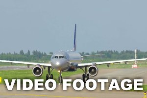 Jet Airplane On The Runway