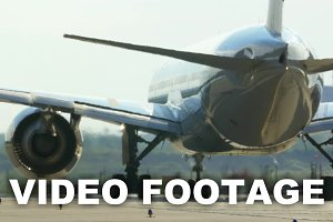 Passenger Jet Plane On The Runway