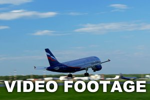 Plane Fly Up Over Take-Off Runway