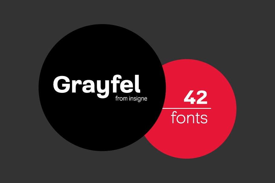 Grayfel ~ Sans Serif Fonts ~ Creative Market
