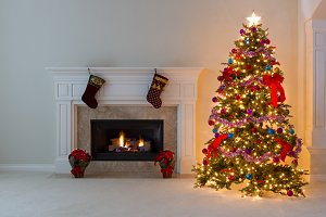 Warm Holiday Room