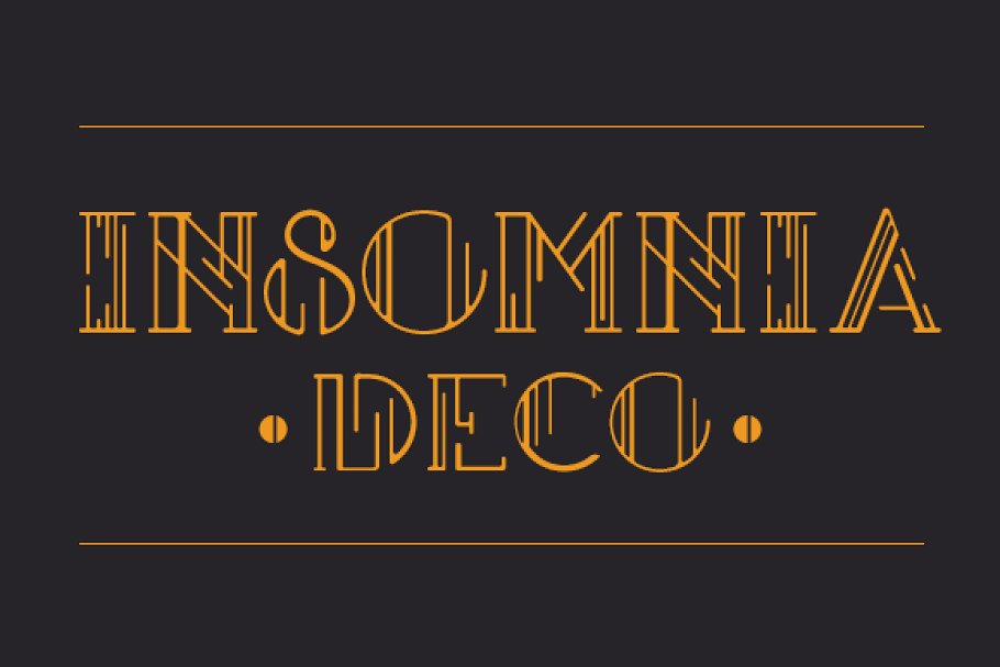 Insomnia Deco – Display Type ~ Display Fonts ~ Creative Market