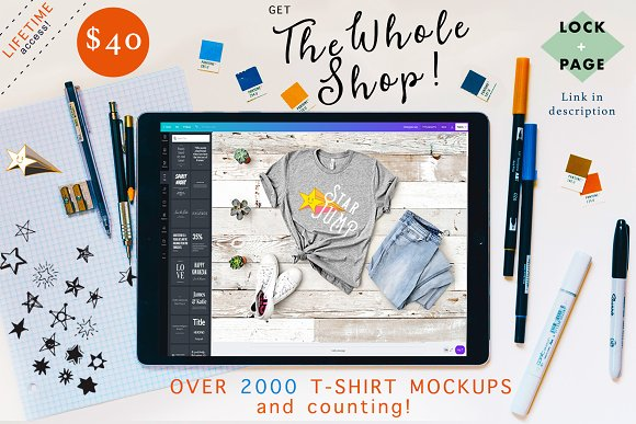 Soft Cream Bella Canvas Shirt Mockup in Product Mockups - product preview 1