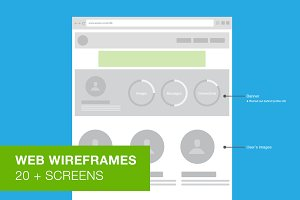 Web Wireframes - User Flow