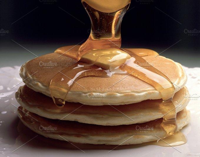 pancakes with honey..JPG - Food & Drink