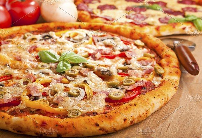 two pizzas.jpg - Food & Drink