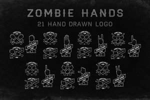 Zombiehands | 21 hand drawn logo