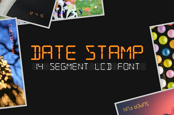 Date Stamp Display Fonts Creative Market