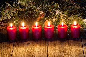 Glowing Holiday Candles
