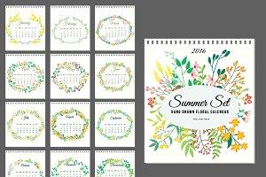 2016 Calenda floral set