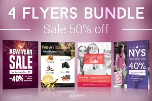 New Year Sale Flyers Bundle
