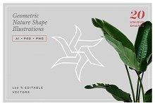 Geometric Nature Shape Illustrations