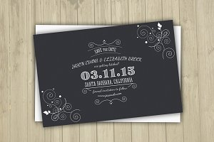 Save The Date Postcard Template-V06