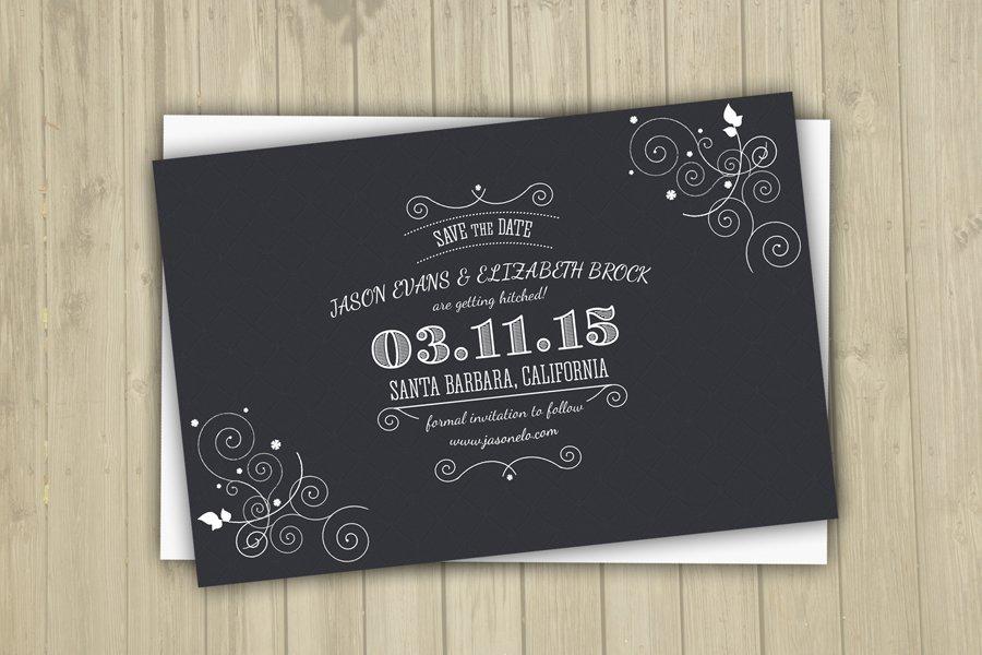 Save The Date Postcard Template-V06 ~ Invitation Templates ...