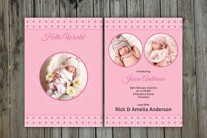 Newborn Announcement Template-V05