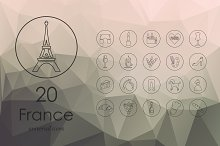 20 France icons