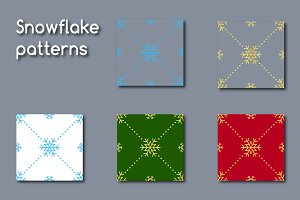 Snowflake patterns & digital papers