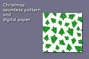 Christmas pattern and digital paper
