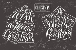 Lettering Christmas wishes in shapes