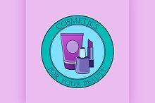 Cosmetics label for design