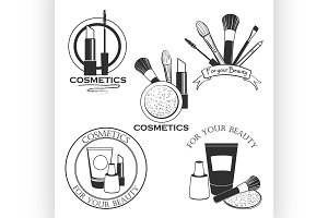 Cosmetics set label for your product