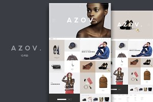 Azov - Fashion eCommerce PSD