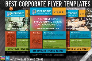 Polygonal Metro Style Flat Flyer