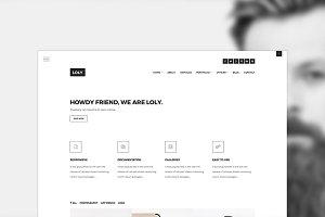 Loly - Creative Portfolio Template