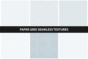Grid patterns - seamless collection.