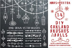 Christmas.DIY garland brushes set