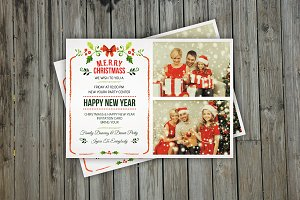 Christmas Invitation Photo Card-v142