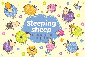 Sleeping sheep.