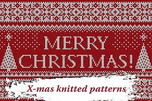Christmas Knitted Backgrounds