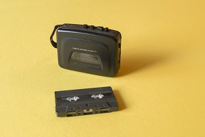 Walkman with cassettes