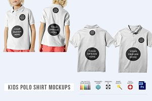 Kids Polo Shirt Mockups
