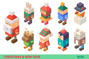 New Year Characters.