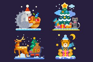 Happy Cute Christmas Animals!