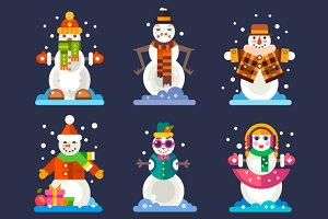 Awesome Snowmen in Different Styles