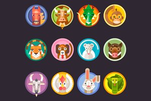 Chinese Horoscope Animals Isolated