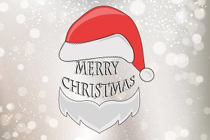 Christmas Typographic Background