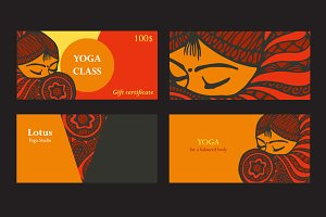 Visit cards for yoga or dance studio