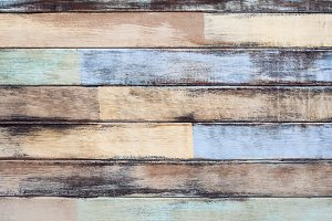 Old wood multicolor background