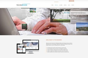 Techno Web - OnePage HTML Theme