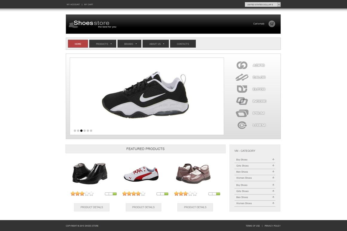 0f3ec9b880d76 Shoes Store - ECommerce Joomla Theme