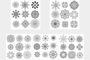 Set of round abstract pattern