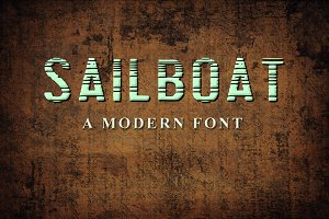 SAILBOAT - a modern font
