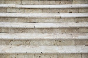 White Marble Stone Steps